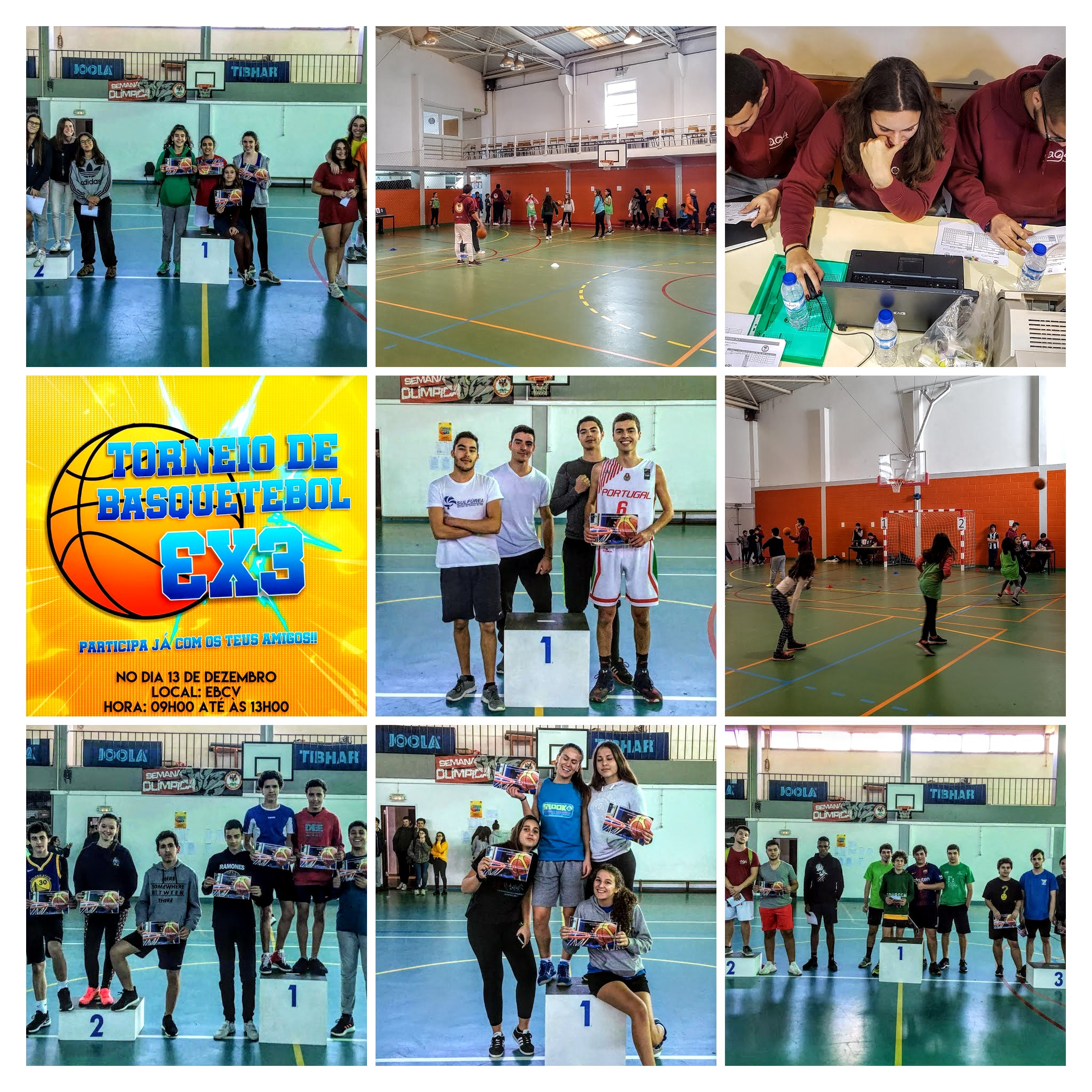 Torneio de Basquetebol 3x3 COLLAGE
